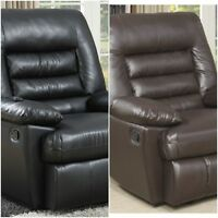 Recliner Massage Chair Bonded Leather Big & Tall Memory Foam W Remote 350 Lb