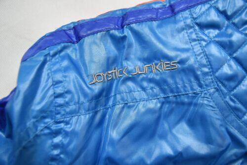 Joystick Junkies logo brodé doublé bleu Bomber Veste Style Nouveau Officiel