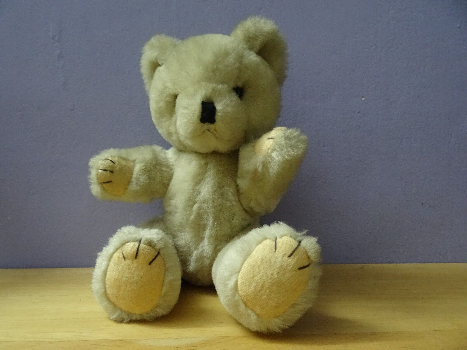 bianca or Cream Coloreeosso vintage   antique Mohair Jointed Teddy Bear 26 cm = 10.4