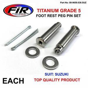PAIR-TITANIUM-CNC-FOOTPEG-MOUNTING-PIN-CLIP-SET-SUZUKI-RM-125-250-RMZ-RMX-DRZ
