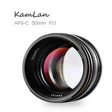 Kamlan 50mm F1.1 APS-C Large Aperture Manual Focus Lens for Sony E-Mount
