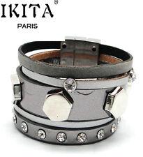 Luxus Leder Armband IKITA Paris  Ibiza Brasilien Magnetverschluss Wickelarmband