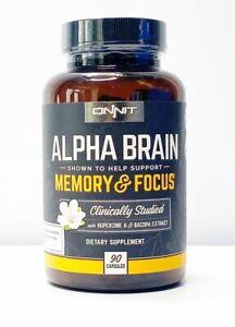 Onnit-Labs-Alpha-Brain-Memory-amp-Focus-Sealed-90-Capsules-Caps-Fresh-MFG-09-18