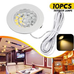 10PCS-12V-LED-Spot-Lights-Interior-Lamps-For-Transporter-Camper-Boat-Warm-2
