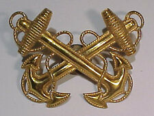 WW2 US Navy WO - Warrant Officer Large Sterling Hat Badge - Vanguard - SB
