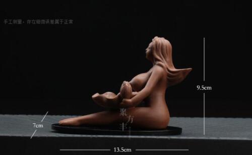Nude Lady Incense Burner Smoke Backflow Ceramic Glaze Censer Cone Holder Crafts