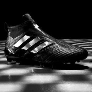 Détails sur ADIDAS ACE 17+ purecontrol FG Chaussures de football noir à damiers Laceless Taille 8 UK afficher le titre d'origine