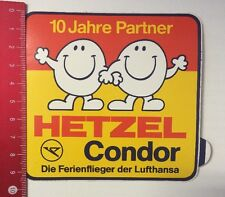 Aufkleber/Sticker: 10 Jahre Partner - Hetzel Condor - Lufthansa (07031626)