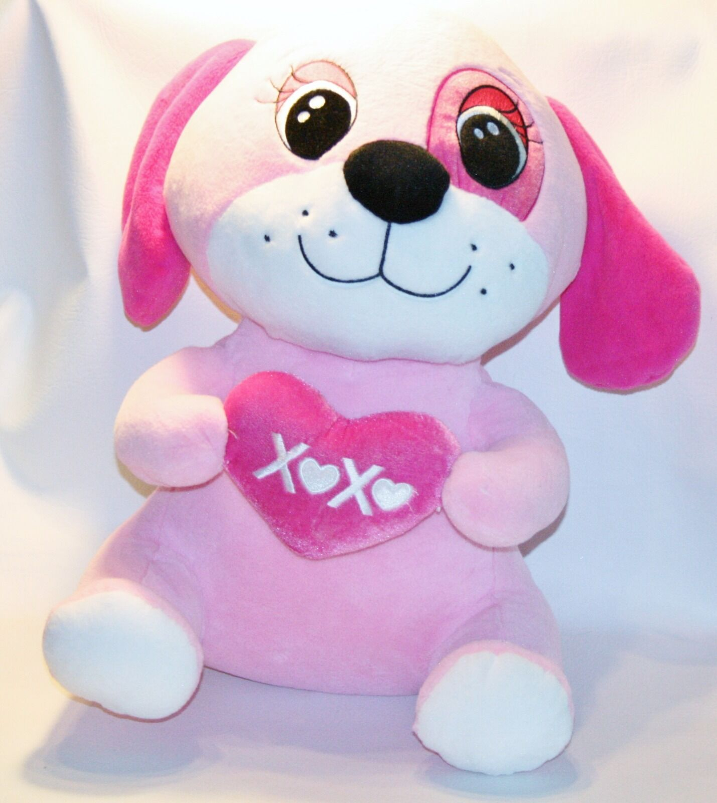 Dan Dee Dandee Plush Rosa Hugs Kisses Puppy Dog Stuffed Animal Lovey Toy Large