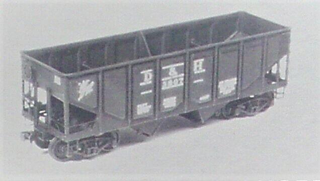 Tichy Train Group #4029 Rebuilt Panel Side 36/' USRA 2-Bay Open Steel H HO Scale