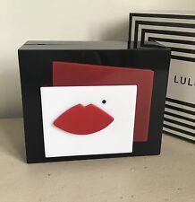 RRP £260 - Lulu Guinness Black Perspex Chloe Clutch/Shoulder Bag - New