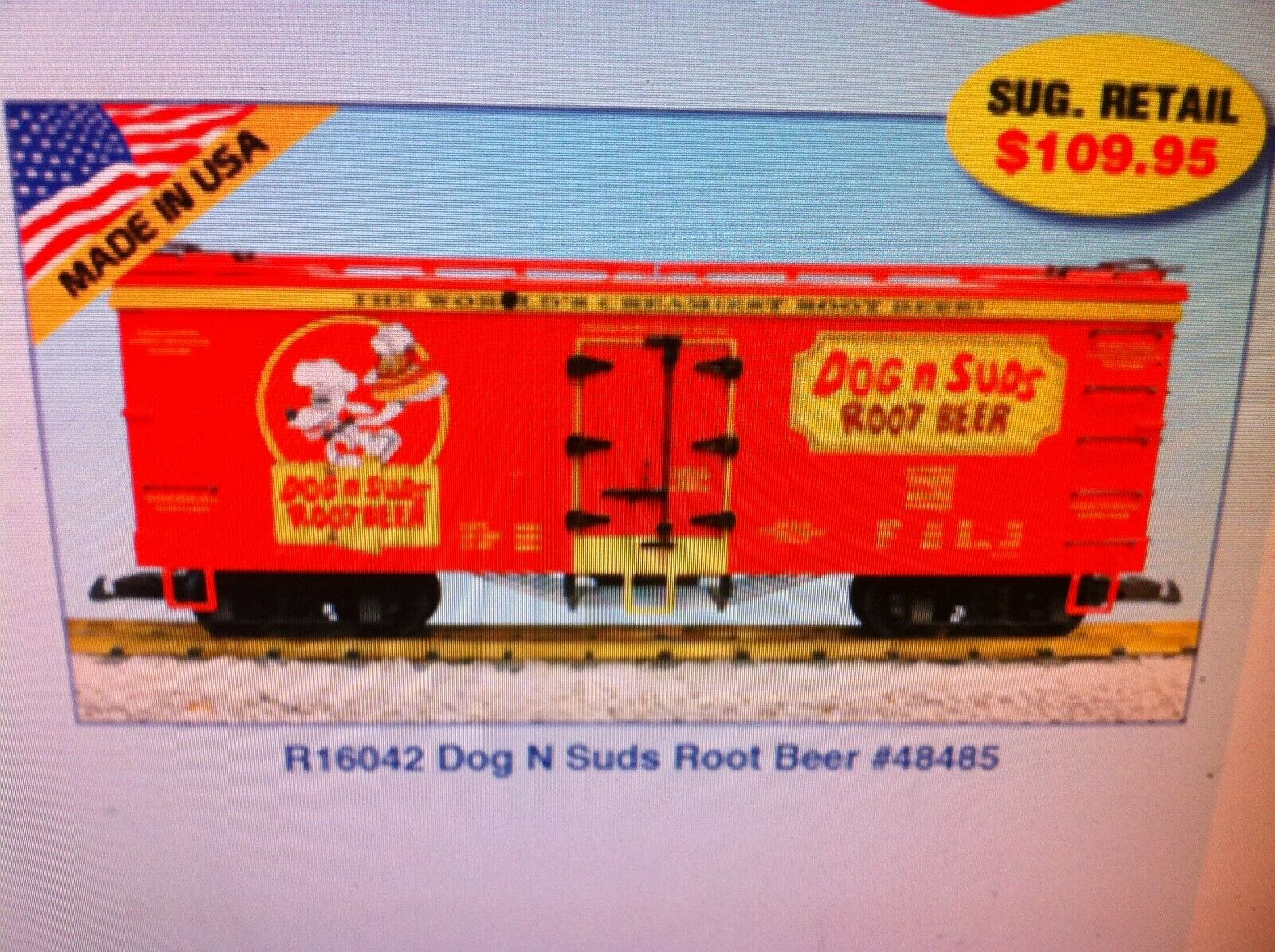 USA Trains G Scale R16042 Dog and Suds Root Beer Rd NEW RELEASE
