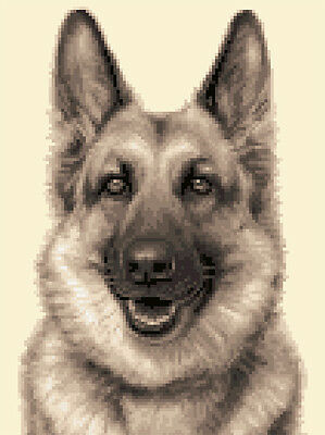GERMAN SHEPHERD, ALSATIAN dog counted cross stitch kit