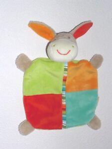 Babydream-Rossmann-Schmusetuch-Esel-Pferd-bunt-Schnuffeltuch-Kuscheltuch-wie-neu