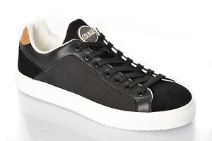 Scarpe-Uomo-Colmar-Bradbury-First-Sneakers-Pelle-Scamosciata-Liscia-Nere-Bianco