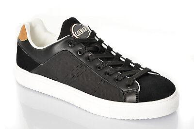 Scarpe Uomo Colmar Bradbury First Sneakers Pelle Scamosciata Liscia Nere Nuove | eBay