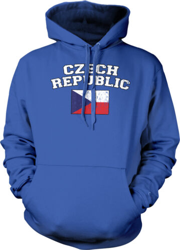 Distressed Czech Republic Nationality Czech Pride Hoodie Pullover