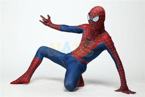 Klassischer Raimi Spider Man Halloween Cosplay Kostüm Anzug 3D gedruckt Unisex