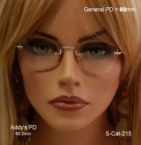 SHURON-034-Frameless-034-Early-1900-039-s-12k-Gold-Fill-True-Antique-Eyeglasses-amp-Case