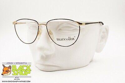 Unito Marcolin 7501 776 Vintage 80s Women Eyeglass Frame. Golden & Violet Reflexes Beneficiale Per Lo Sperma