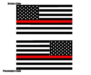 USA United States Of America Flag Vinyl Decal Sticker Military Fender Decal Set