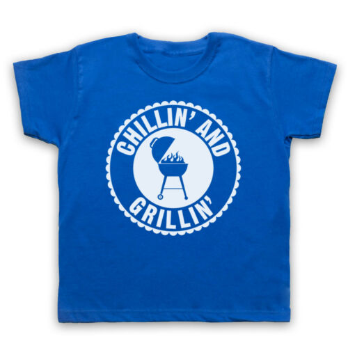 CHILLIN/' AND GRILLIN/' BBQ RETRO SLOGAN CHEF COOKING MENS WOMENS KIDS T-SHIRT