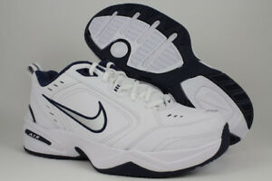 good world-wide selection of running shoes Details about NIKE AIR MONARCH IV 4 EXTRA WIDE 4E EEEE WHITE/SILVER/NAVY  BLUE TRAINER MEN SIZE