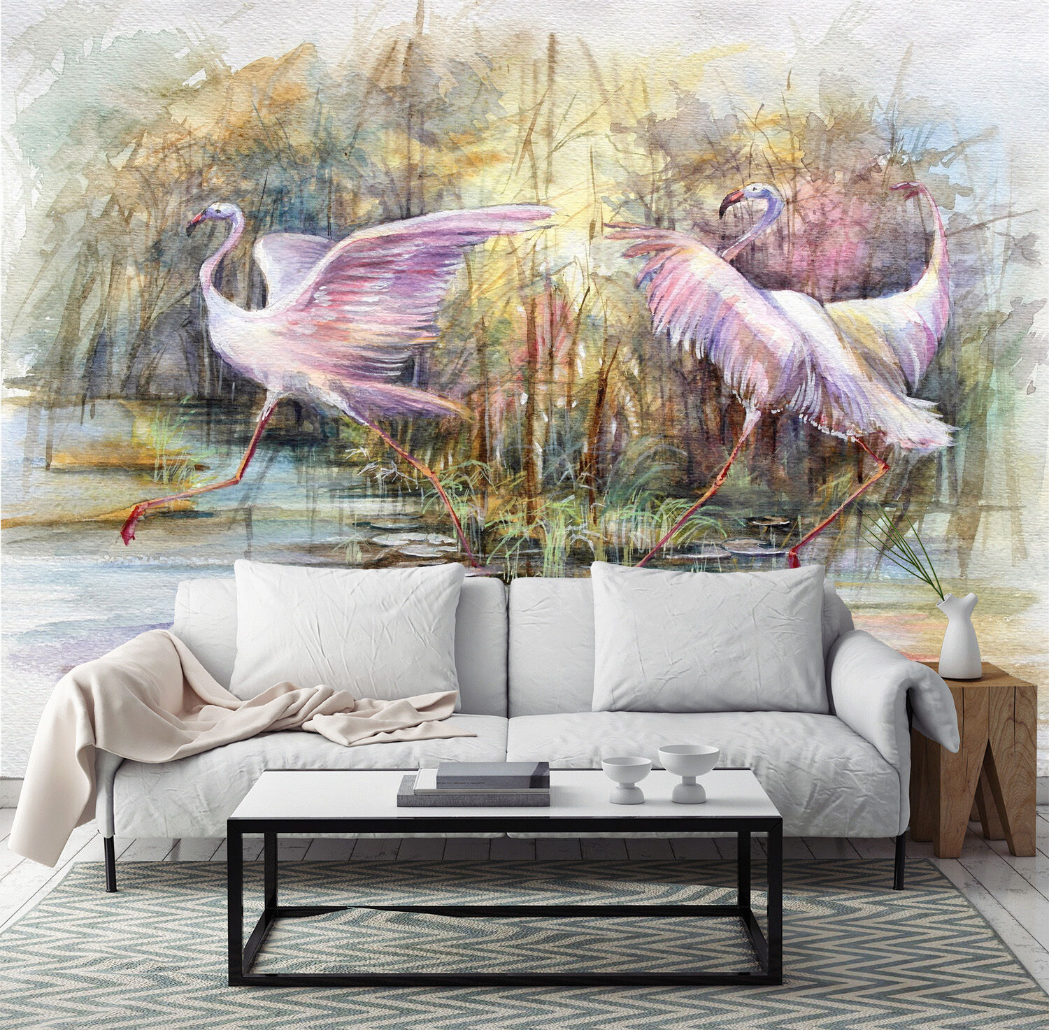 3D swan painting pond Wall Paper wall Print Decal Wall Deco Indoor wall Mural