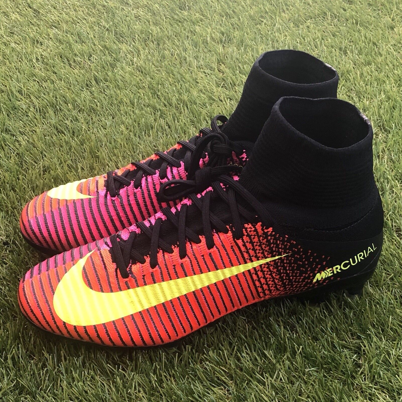 New Nike Mercurial Superfly V AG Pro DF Size 7 Soccer Cleats Black 831955-870