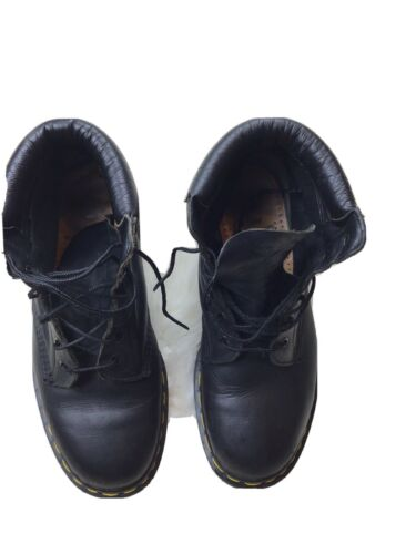 dr martens Mens 7 Black Leather High Top Shoes  - image 1