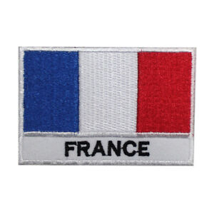 France Flag Country Embroidered Patches,Iron On Patches,Sew On Badges,Bag