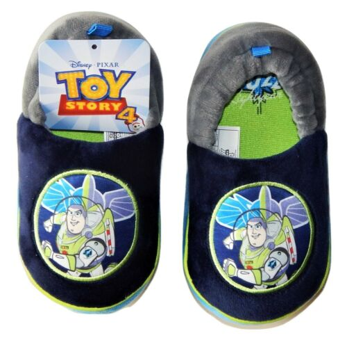 DISNEY TOY STORY 4 BUZZ LIGHTYEAR Boys Plush Slippers Size 7-8 9-10 or 11-12 NWT
