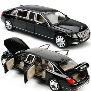 1-24-Mercedes-Maybach-S600-Limousine-Diecast-Metal-Model-Car-New-in-Box-Black
