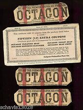 Octagon Soap Premium Coupon Lot Colgate Palmolive Peet Vintage Paper Collection