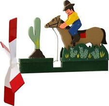 Cowboy Riding the Horse Wooden Hand Painted Wind Whirligig  29......