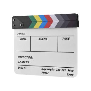 Details about Movie Film TV Slate Clapper Board Dry Erase Clapboard Cut  Action Scene Decor&Pen