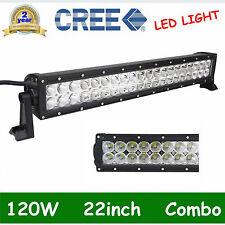 22'' 120W CREE LED Light Bar Spot Flood Driving Lamp Boat SUV Jeep Truck 12V 24V