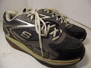 Skechers-Shape-Ups-Men-Walking-Shoes-52005-Black-Gray-sz-8