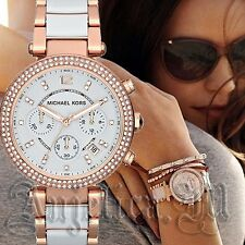 Michael Kors Uhr Damenuhr MK5774 Parker Farbe: Rose Gold/Weiß NEU