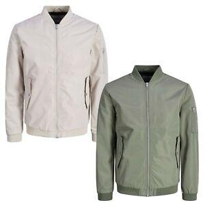 Jack and Jones Mens Biker Bomber Jacket Smart Casual Pacific Winter Coats Sizes