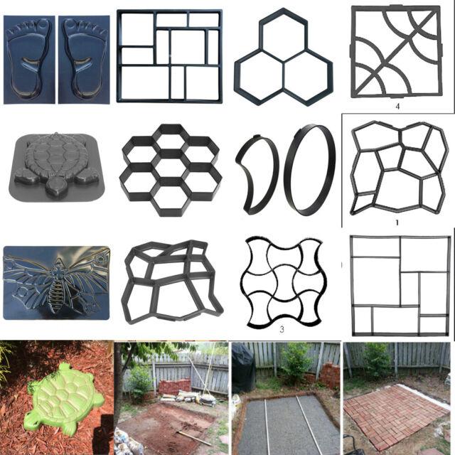 Driveway Paving Pavement Mold Patio Concrete Stepping Stone Path Maker Turtle