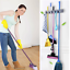 Vicloon-Broom-Mop-Holder-Tidy-Organizer-Wall-Mounted-Organizer-with-5-Position thumbnail 7