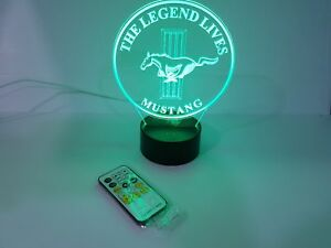 3D-LED-7-Colors-Remote-Control-ford-mustang-Lamp-USB-with-free-adaptor-usb-plug
