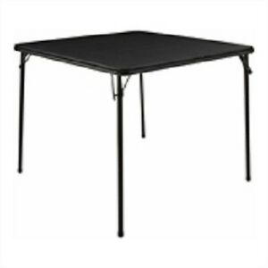 Marquee Black Folding Card Table 860x700mm Collapsible