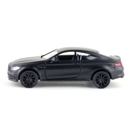 1:36 C63 S AMG Coupe Model Car Diecast Toy Vehicle Pull Back Black Kids Gift