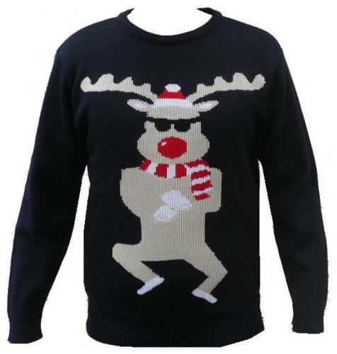 New Christmas Xmas Jumper Funny Rude Mens Ladies Novelty Knitted Sweater