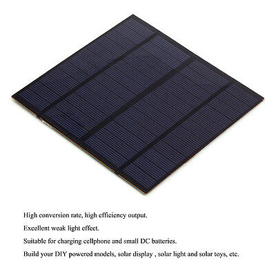3W 12V Silicon Solar Panel Module DIY for Lamp Toy Cell Phone Battery Chargers