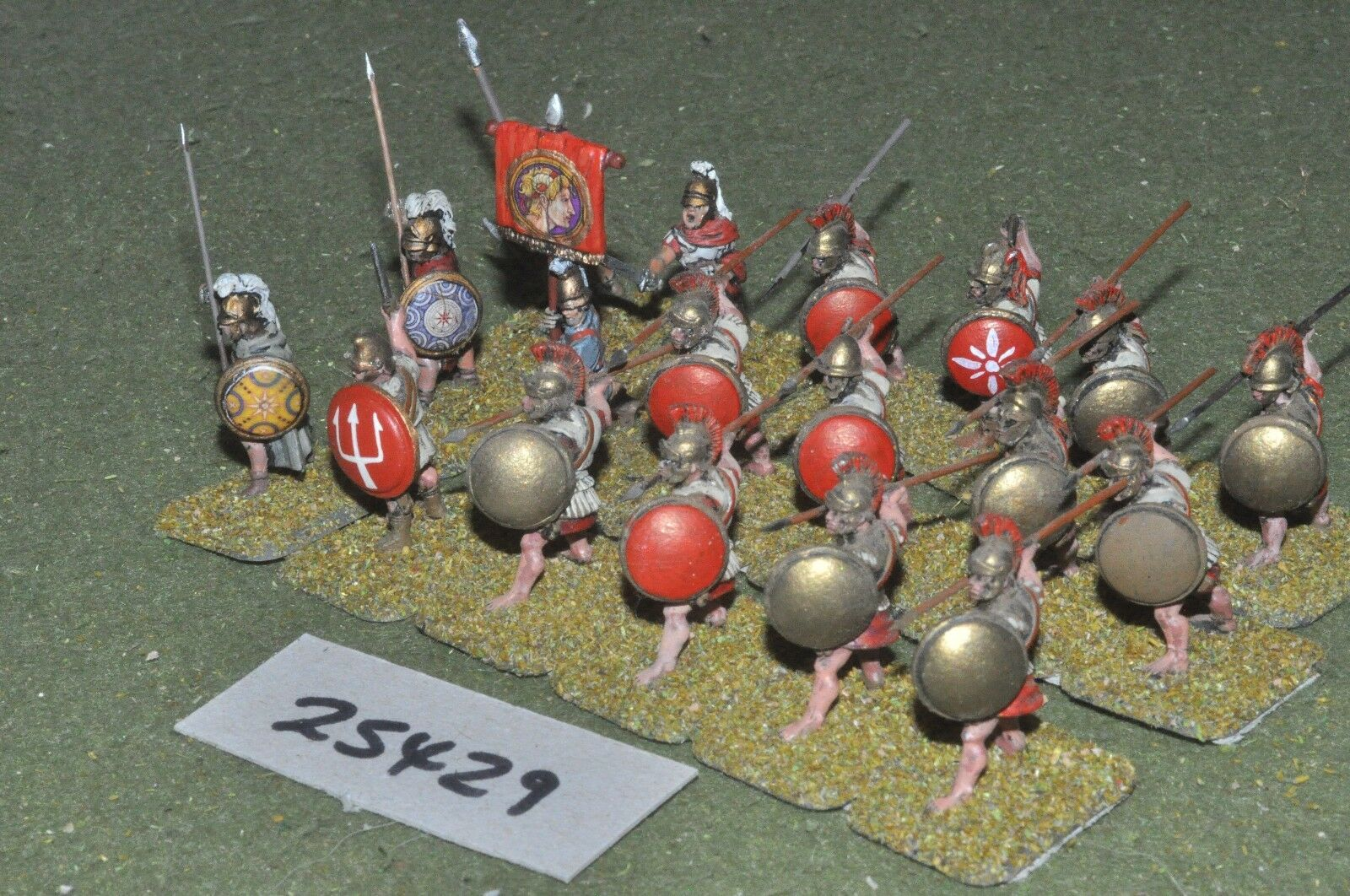 25mm classical   greek - hoplites 18 figures - inf (25429)