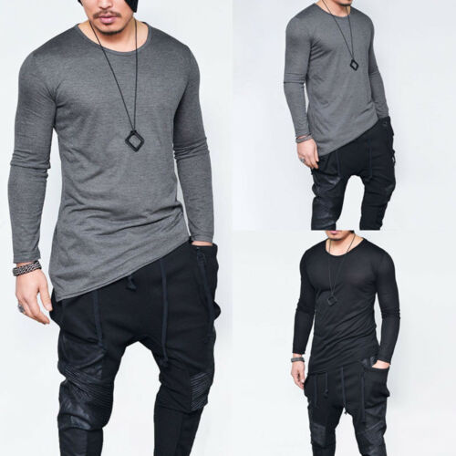 Men/'s Slim Fit Short//Long Sleeve Tops Sports Gym Fitness Casual Basic Tee Shirt