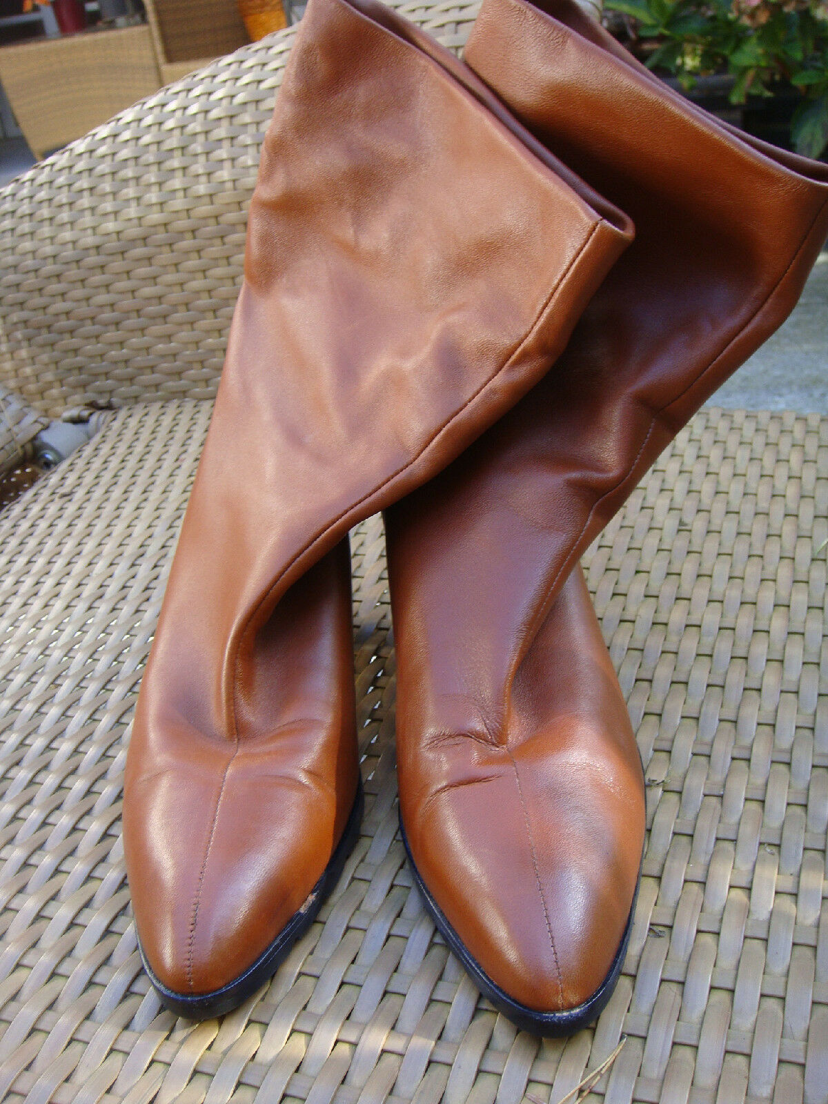 WALTER STEIGER Stiefel Stiefel STEIGER Stiefeletten Gr.38,5 Cognak baebd9